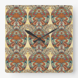 Turtle Floral Pattern Wall Clocks