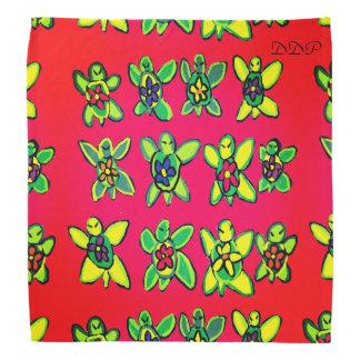 Turtle flower art bandana