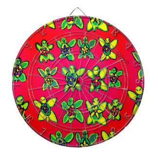 Turtle flower art dartboard