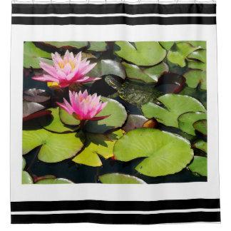 Turtle Flowers Animals Wildlife Waterlily Lilypads Shower Curtain