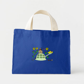 Turtle & friends mini tote bag