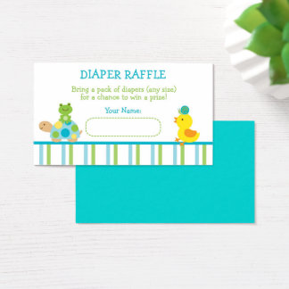 Turtle & Frog Diaper Raffle Tickets