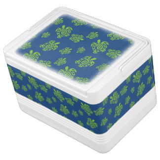 Turtle Green and Blue Party Stuff Igloo Cooler