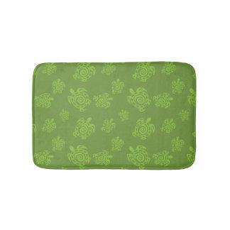 Turtle Green Graphic Bath Mats