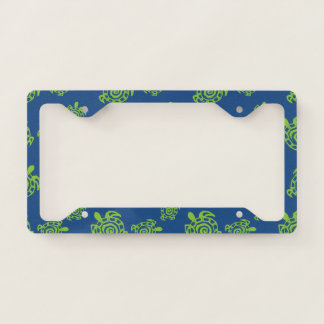 Turtle Green on Blue field Licence Plate Frame