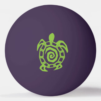 Turtle Green Print Ping Pong Ball