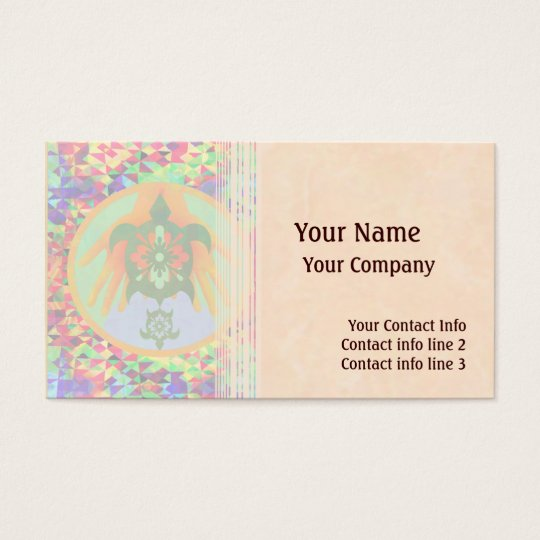 Turtle Hands Business Card Template