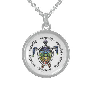 Turtle Harmony Sterling Silver Round Necklace
