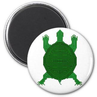 Turtle  - I - Geometric 6 Cm Round Magnet