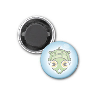 Turtle in a bubble 3 cm round magnet