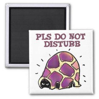 turtle in home pls do not disturb cartoon square magnet