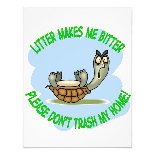 turtle personalized invitation