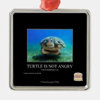 Turtle Is Not Angry Christmas Ornament