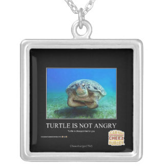 Turtle Is Not Angry Silver Plated Necklace