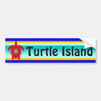 TURTLE ISLAND bumper sticker