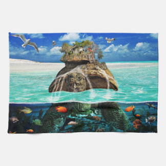 Turtle Island Fantasy Secluded Resort Tea Towel