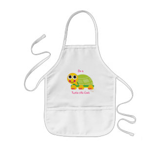 "Turtle Kids Apron ""Be a Turtle-rific Cook"""
