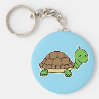 Turtle kjeychain basic round button key ring