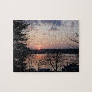 Turtle Lake Sunset Puzzle