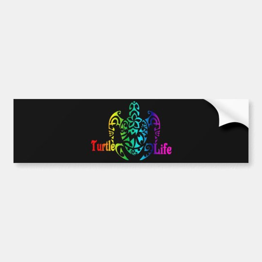 Turtle Life Bumper Sticker