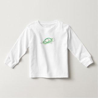 turtle long sleeve white top- boys toddler T-Shirt