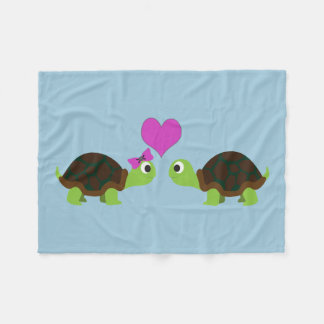 Turtle Love Fleece Blanket