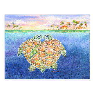 Turtle Love Postcard