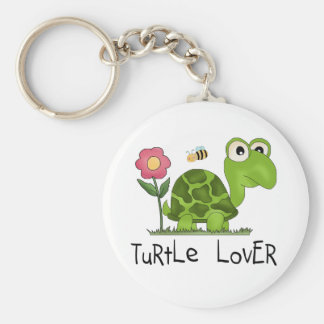 Turtle Lover Tshirts and Gifts Basic Round Button Key Ring