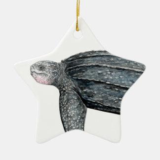 Turtle lute ceramic star decoration