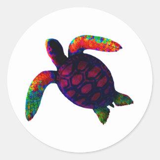 Turtle Magenta The MUSEUM Zazzle Gifts Round Sticker