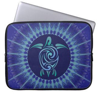 Turtle Mandala Dark Blue Laptop Sleeve