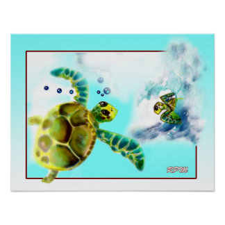 Turtle Meeting Place Poster