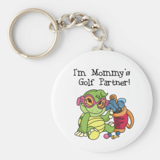 Turtle Mommy's Golf Partner Basic Round Button Key Ring
