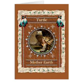 Turtle  -Mother Earth- Custom Greeting Card
