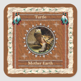 Turtle  -Mother Earth- Stickers - 20 per sheet