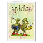 turtle music birthday card