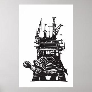 Turtle Oil Rig Print