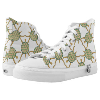 Turtle pattern high tops