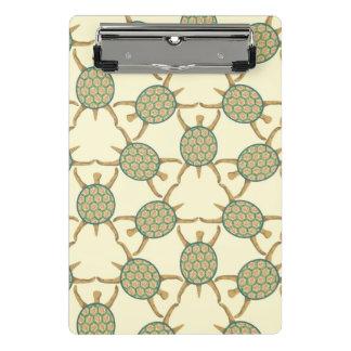 Turtle pattern mini clipboard