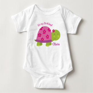 Turtle Personalized Baby Bodysuit 1st Birthday