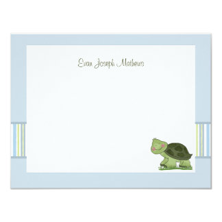 Turtle - Personalized Stationery / Notecard/ Thank Card