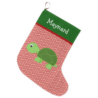 Turtle Pet Personalised Large Christmas Stocking