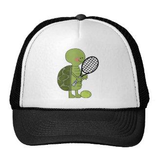 Turtle playing tennis cap