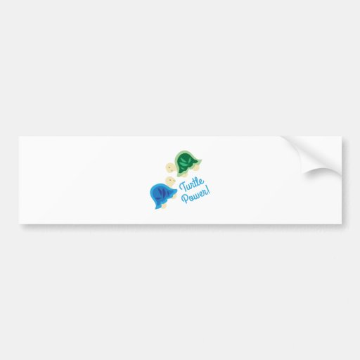 Turtle Power Bumper Stickers