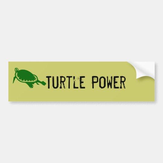 Turtle Power Bumper Sticker