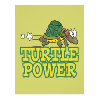 turtle power cute turtle cartoon full color flyer