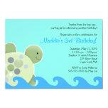 Turtle Reef Seaturtle 5x7 Birthday Invitation