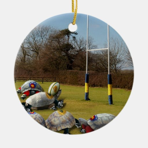 Turtle Rugby Ornaments