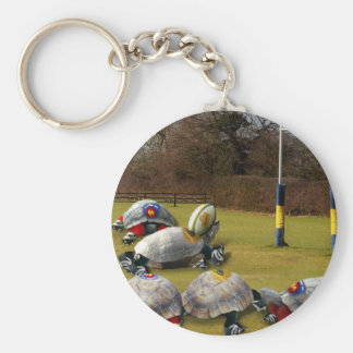 Turtle Rugby Key Ring