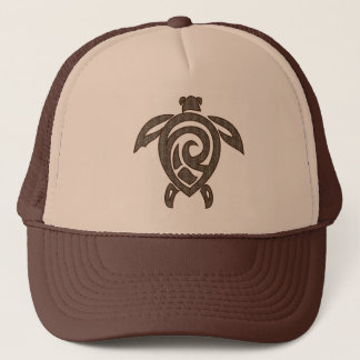 Turtle-shell-print Trucker Hat